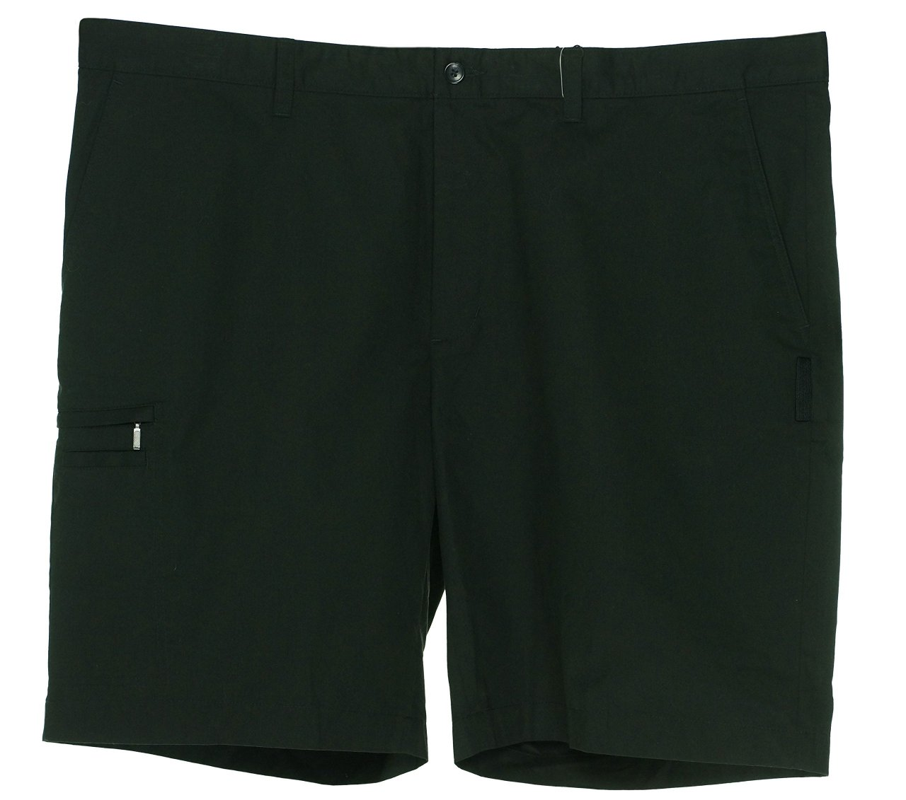 Greg norman new black solid flat front golf mens us size for Van heusen studio shirts big and tall