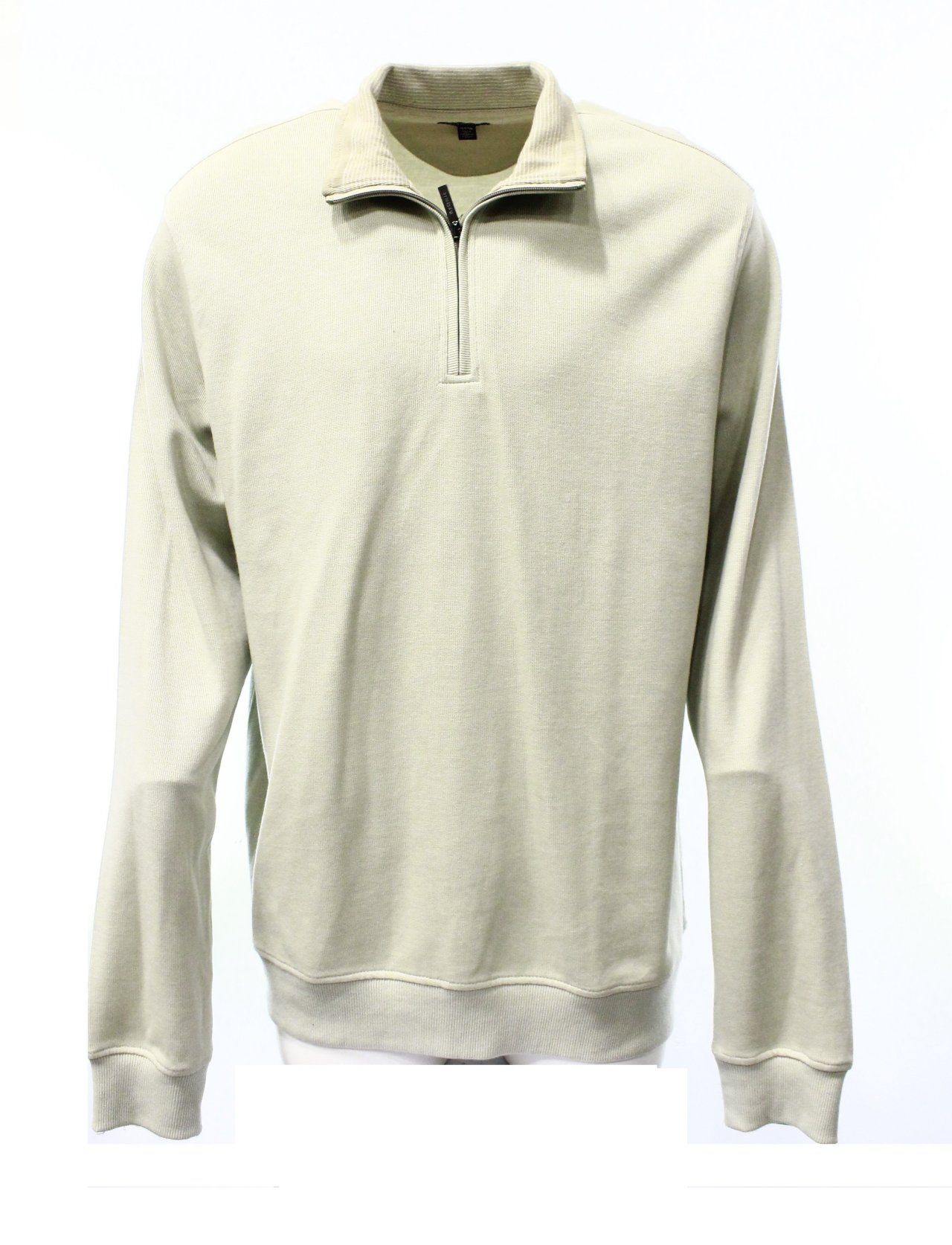 Van Heusen New Beige Knit Pullover Solid Sweater Mens Xlt