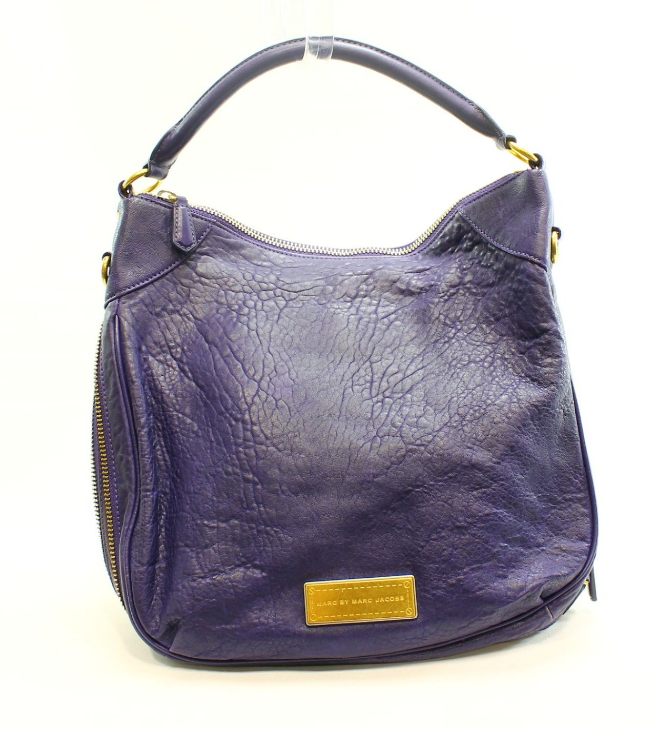 Marc by Marc Jacobs Purple Pebble Leather Women's Billy Shoulder Purse ...