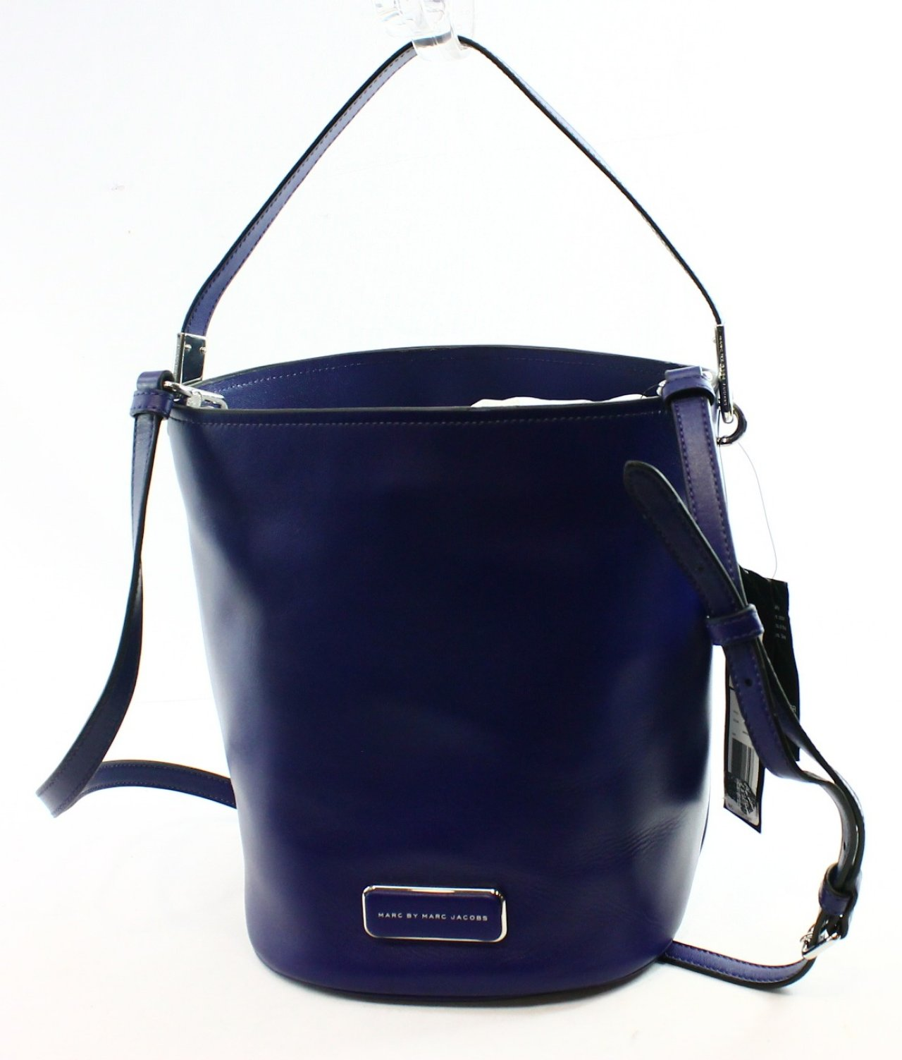 ... Jacobs NEW Purple Leather Mine Bucket Messenger Bag Purse 378-#026
