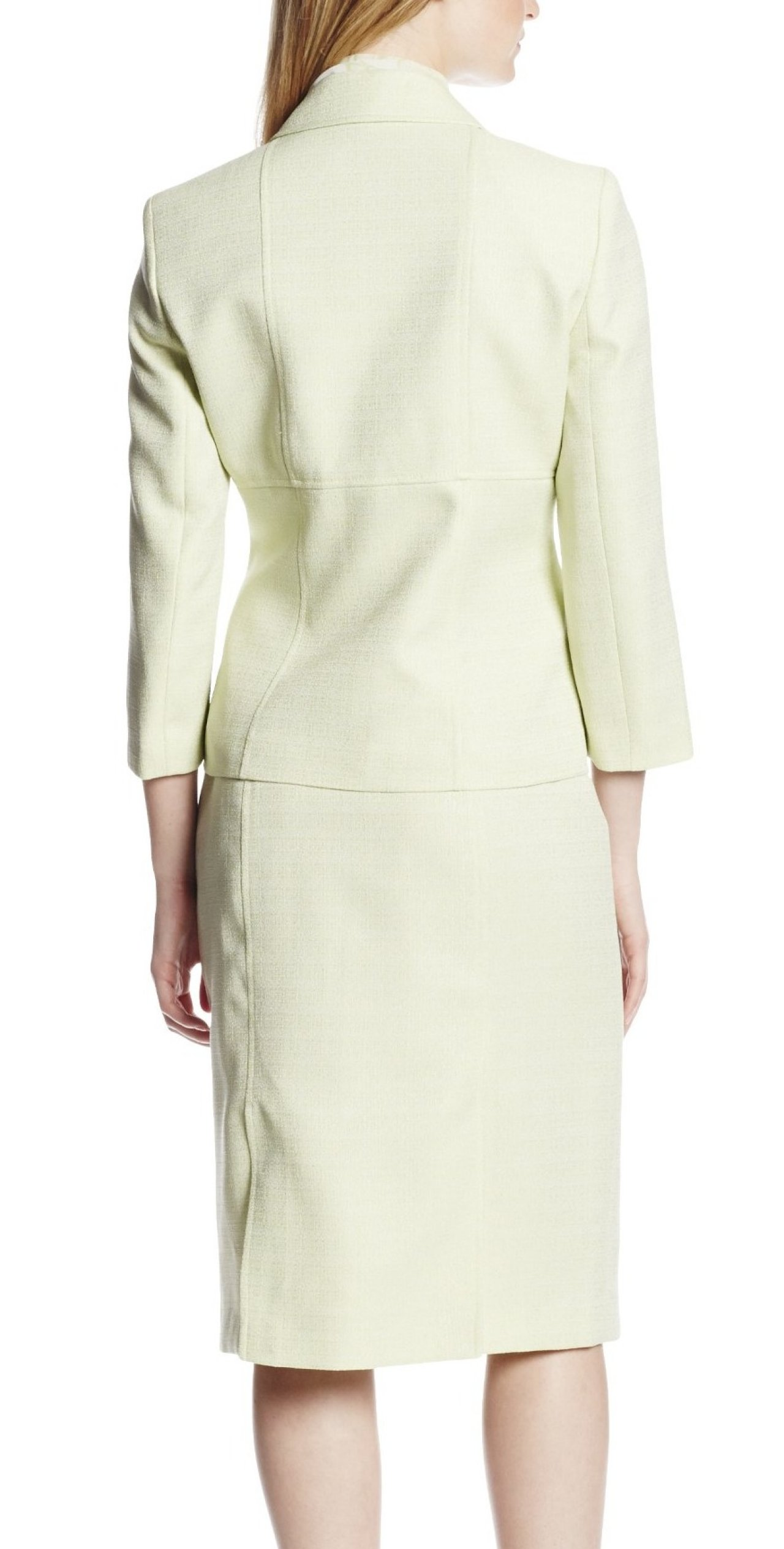Le Suit New Green Lime Tweed Women S 18 Textured Seamed