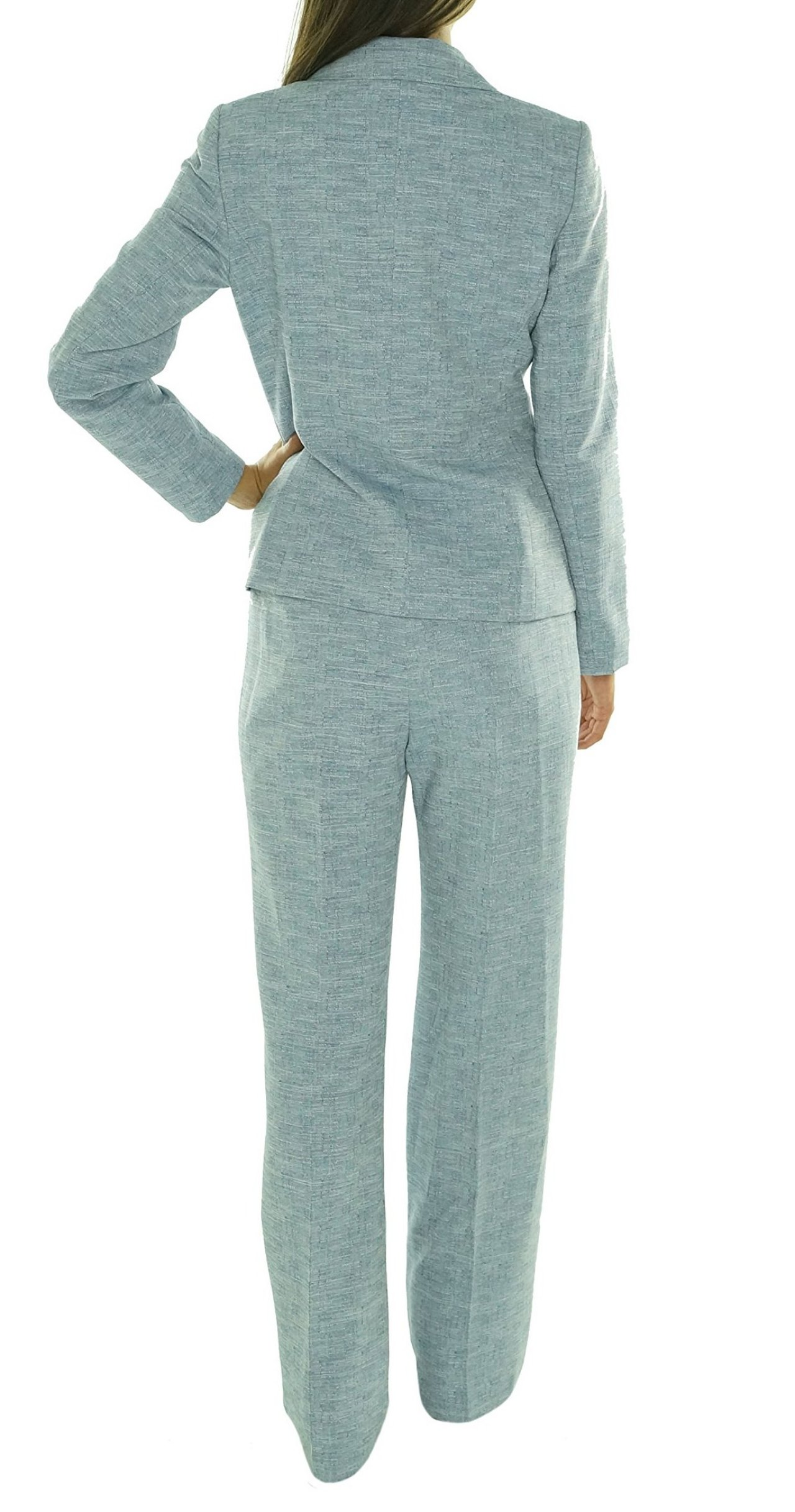 New Le Suit Le Suit NEW Blue Navy Crepe Notched Lapel Women39s Size 14 Pant