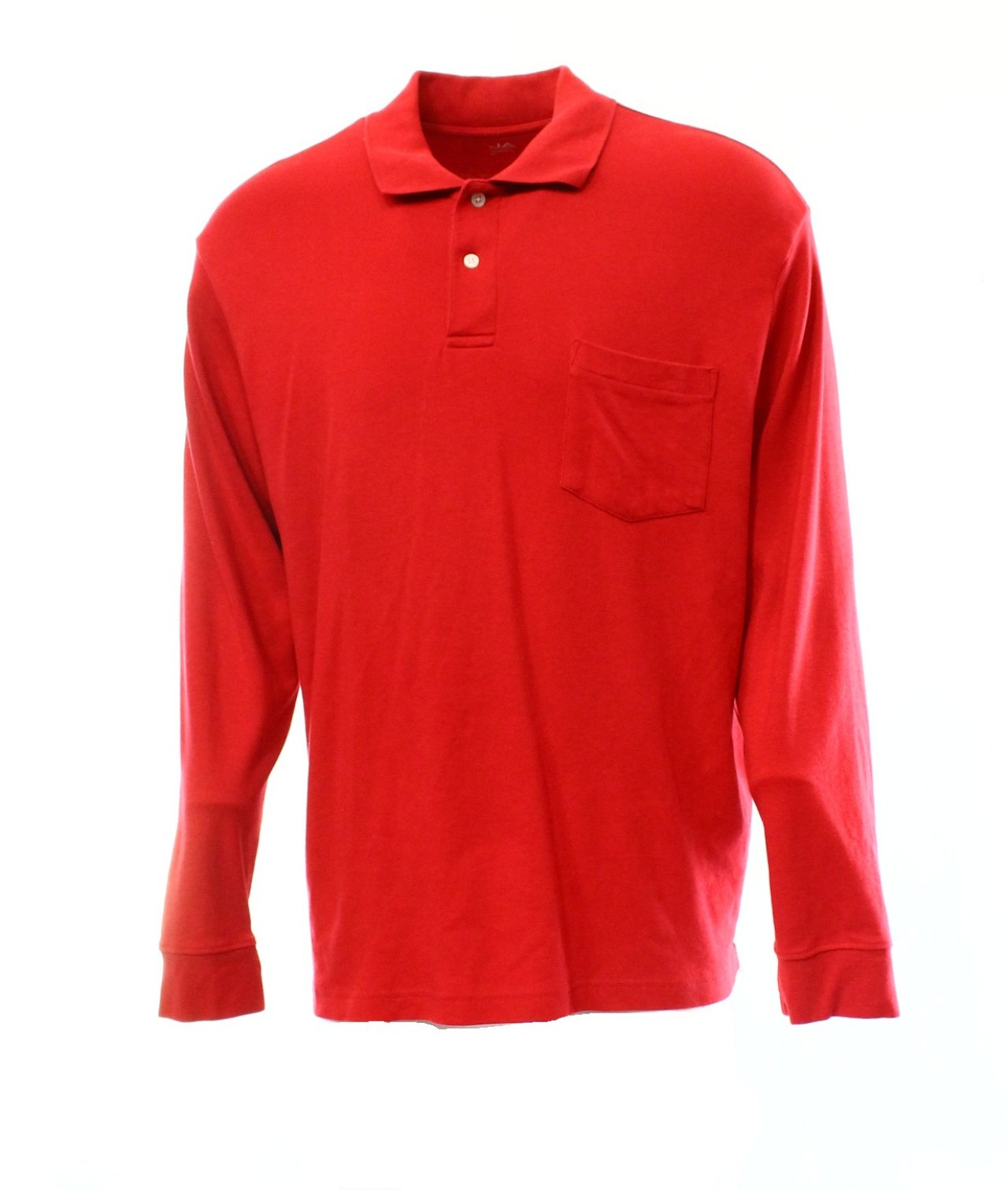 Mens polo by ralph lauren shirt l red pocket long sleeve for Men s cotton polo shirts with pocket