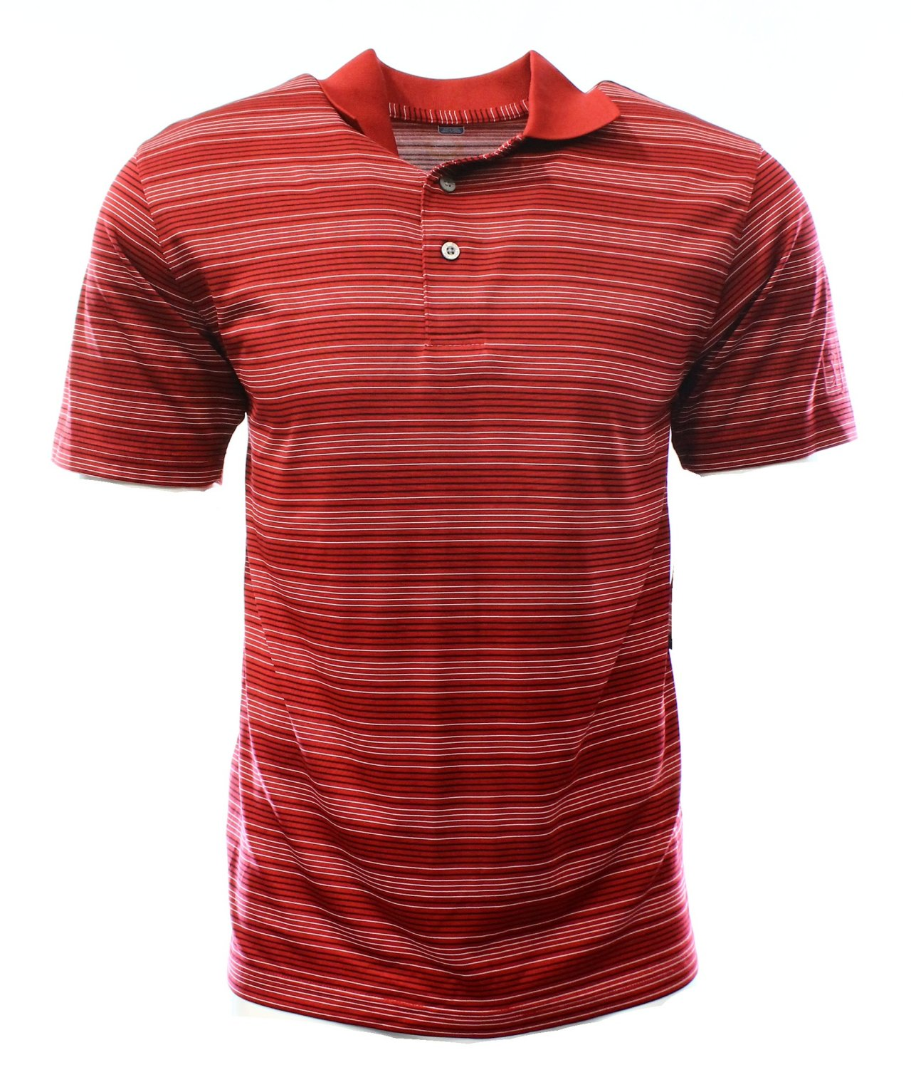 Pga tour new jockey red striped mens size small s golf for Name brand golf shirts