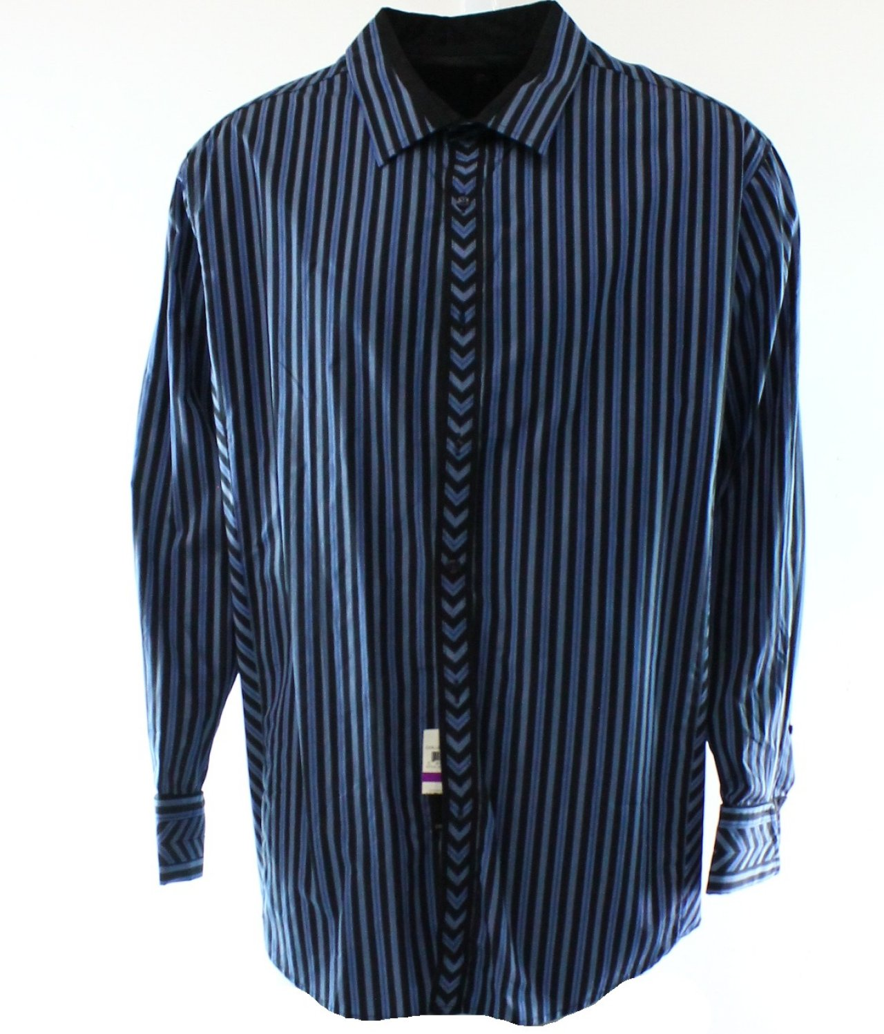 Inc New Blue Striped Long Sleeve Men 39 S Size Big 2x Button