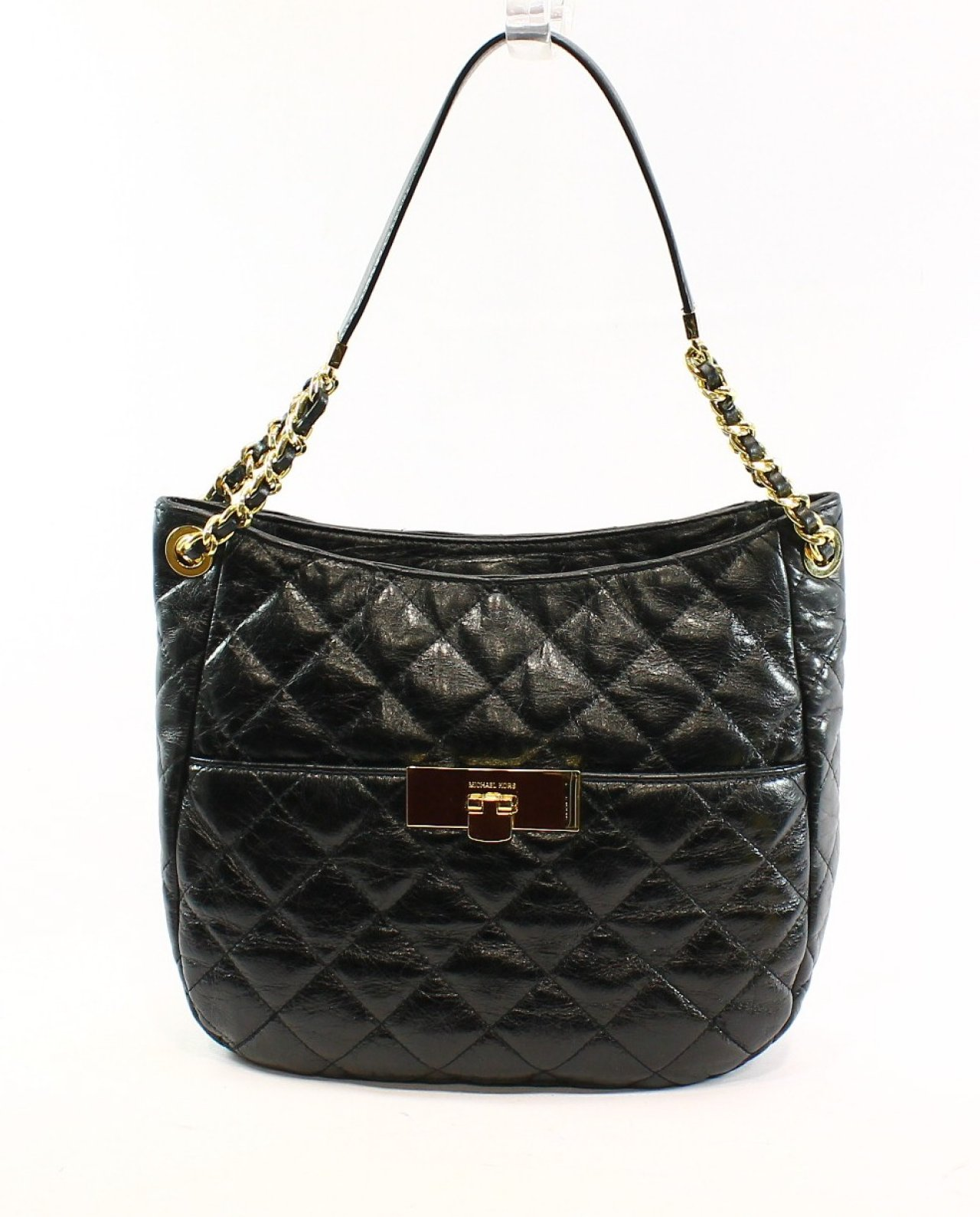 Michael Kors New Black Quilted Leather Women S Shoulder