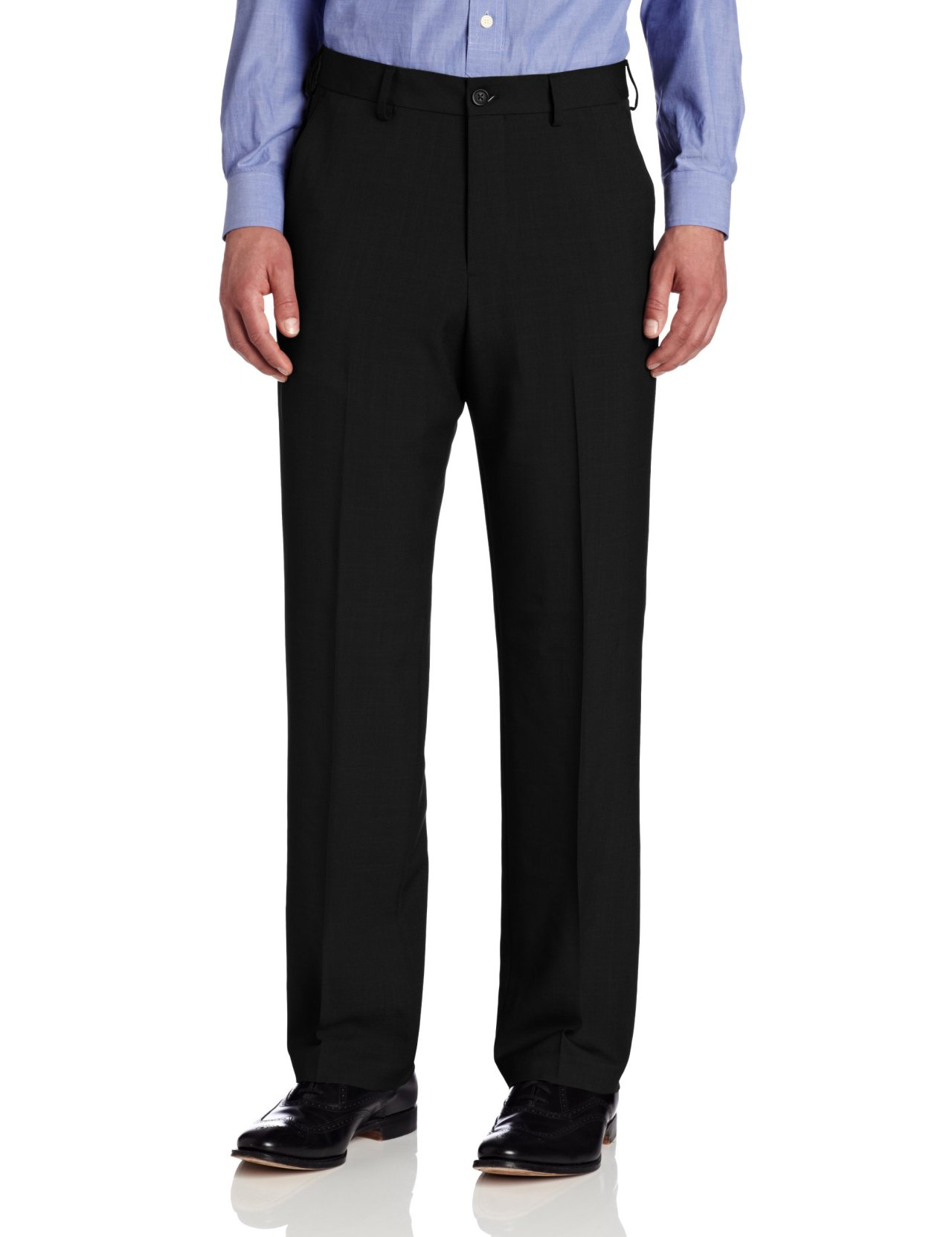 Van Heusen New Black Extender Waist Pants Mens 40x36 Dress