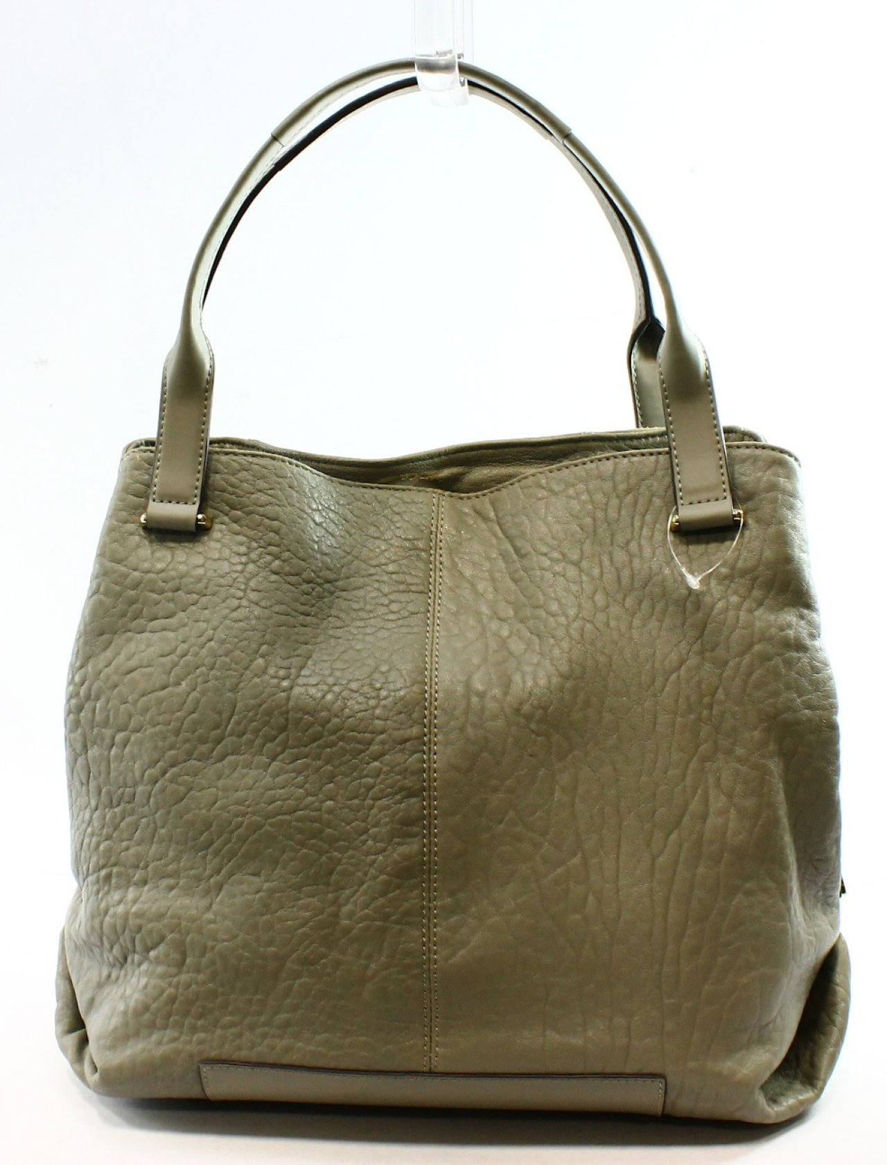 f47a74333864 Vince Camuto NEW Gray Ash Pebble Leather Maron Handbag Tote Purse $298-  #047