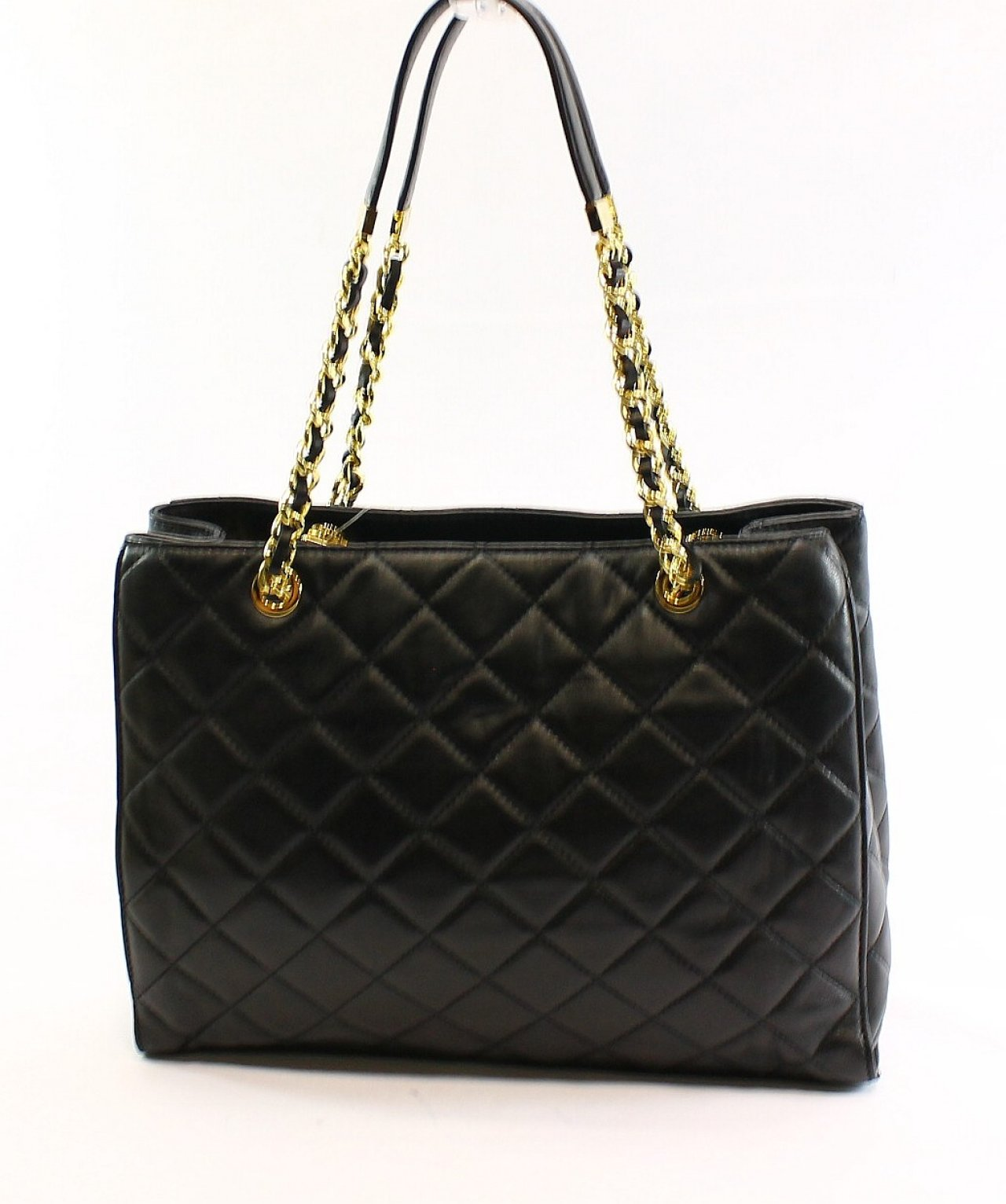 d58ba08ab453 Michael Kors NEW Black Leather Quilted Susannah Large Tote Bag Purse $398-  | eBay