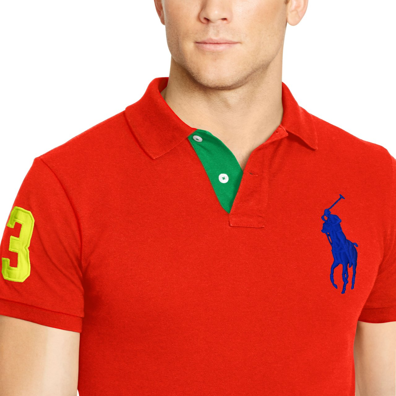 b704e8e690ba5 Polo Ralph Lauren NEW Custom Fit Big Pony Polo Cotton Short Sleeve Shirt   98